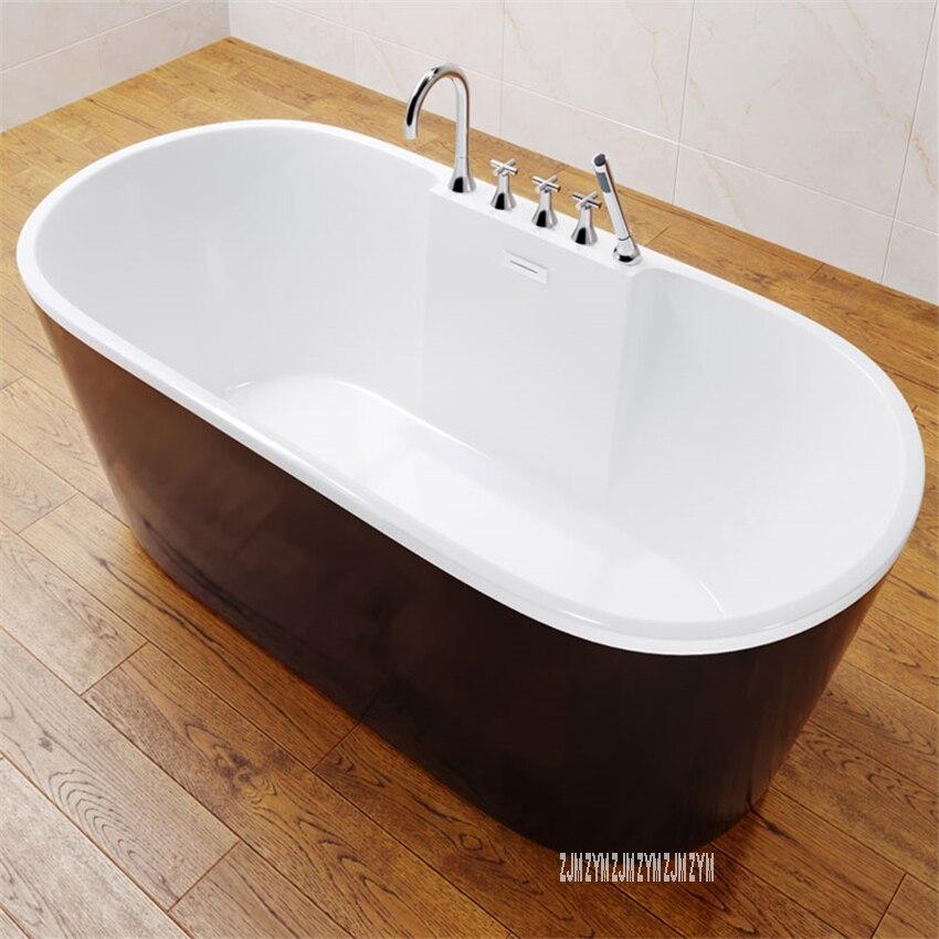 6305 1.5m oval autônomo banheira de fibra de vidro acrílico tipo piso moderno casa banho banheira com torneira ferragem parte-1