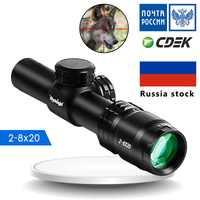 NEW 2-8X20 Optics Compact Riflescope Hunting Scope Mil Dot Reticle Sight Shooting Hunting Air Guns