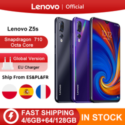 Globale Version Lenovo Z5s Snapdragon 710 Octa Core 64GB 128GB SmartPhone Gesicht ID 6,3 AI Triple Hinten Kamera android P Handy