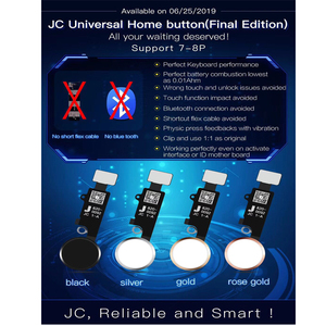 Image 4 - New JC YF Universal home button For iphone 7/7plus /8/8 plus return button key only back function and screen shot no touch ID