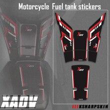 ขายใหม่ถังน้ำมันเชื้อเพลิงรถจักรยานยนต์3DกระดูกปลาAnti Scratchสติกเกอร์กันน้ำการใช้รูปลอกสำหรับHONDA XADV 750 x ADV 750