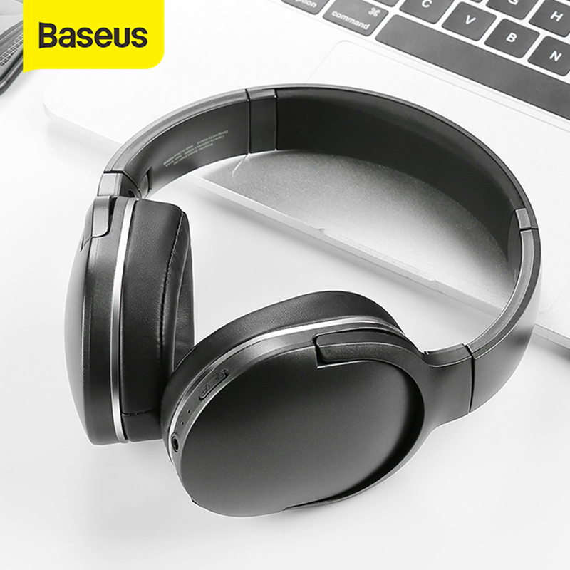 Baseus encok d02 bluetooth headphone foldable bluetooth headset wireless headphones portable bluetooth earphone with mic for phone