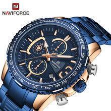 Новые мужские креативные спортивные водонепроницаемые часы naviforce