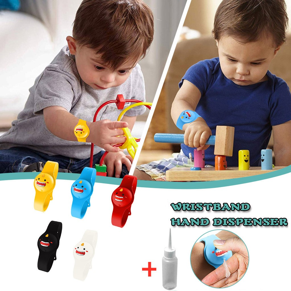 Kid Wristband Hand Dispenser Handwash hand sanitizer dispensing silicone bracelet hand pumps bracelet pulsera de bombas de mano