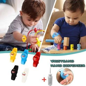 Kid Wristband Hand Dispenser Handwash hand sanitizer dispensing silicone bracelet pumps pulsera de bombas mano