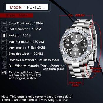 PAGANI Design Men Automatic Watch Sapphire Luxury Mechanical Wristwatch Stainless Steel Waterproof Watch Men Mekaniska klockor 3
