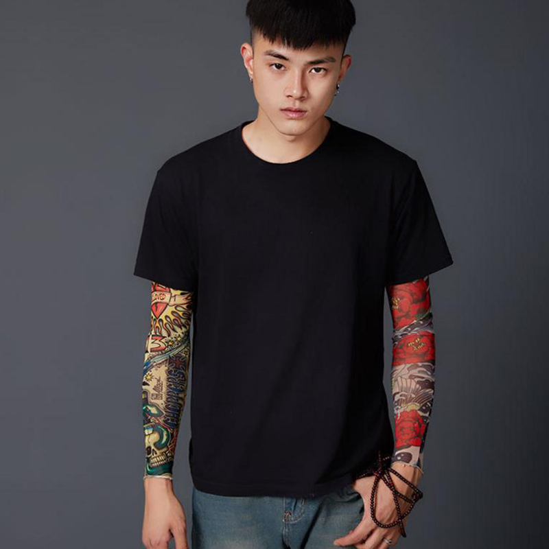 Anti Sunshine Fashion Men And Women Tattoo Arm Leg Sleeves High Elastic Nylon Halloween Party Dance Party Tattoo Sleeve 1pcs