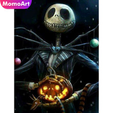 MomoArt Halloween Diamond Painting Pumpkin Mosaic Embroidery Full Square/round Cross Stitch Home Decor