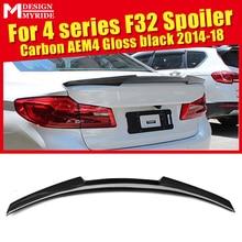 цена на F32 Spoiler Wings Carbon Fiber High Kick M4 Style For BMW 4-Series 420i 428i 430i 430 435i Hard Top Coupe Trunk Spoiler 2014-18