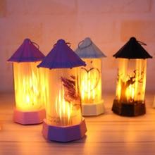2019 Halloween Lantern Light Flame  Castle Lamp Vintage LED Celebration Holiday Atmosphere Festival Party Hanging Decor