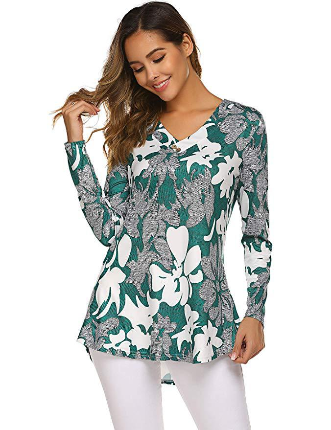 H4790ea5eaa2c46a19b1d2eb3d386cafeF - Large size Blouse Women Floral Print Long Shirts elegant Long Sleeve Button Autumn Tunic Tops Plus Size Female Clothing