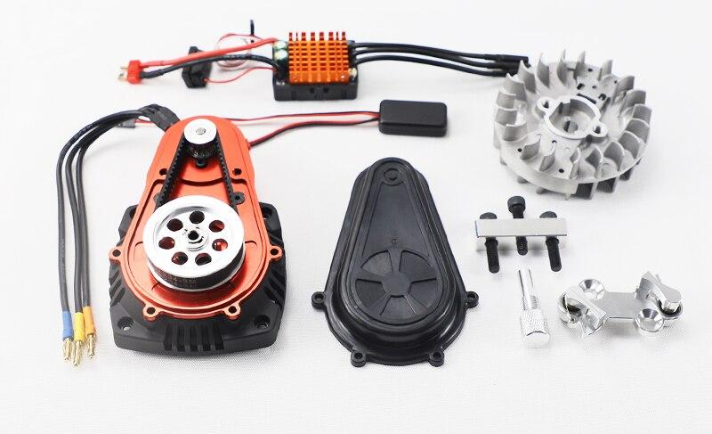 Version sans brosse de l'ensemble de démarreur électrique pour véhicule RC à essence 1:5 pour LOSI 5IVE-T DBXL ROVAN KM HPI BAJA 5B 5T 5SC