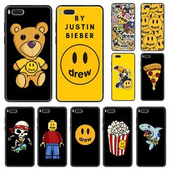Justin Bieber Drew Phone case For Xiaomi Mi 6 8 9 A1 2 3 Mix3 Mix2 Mix2S X T Lite Pro black luxury prime painting hoesjes image