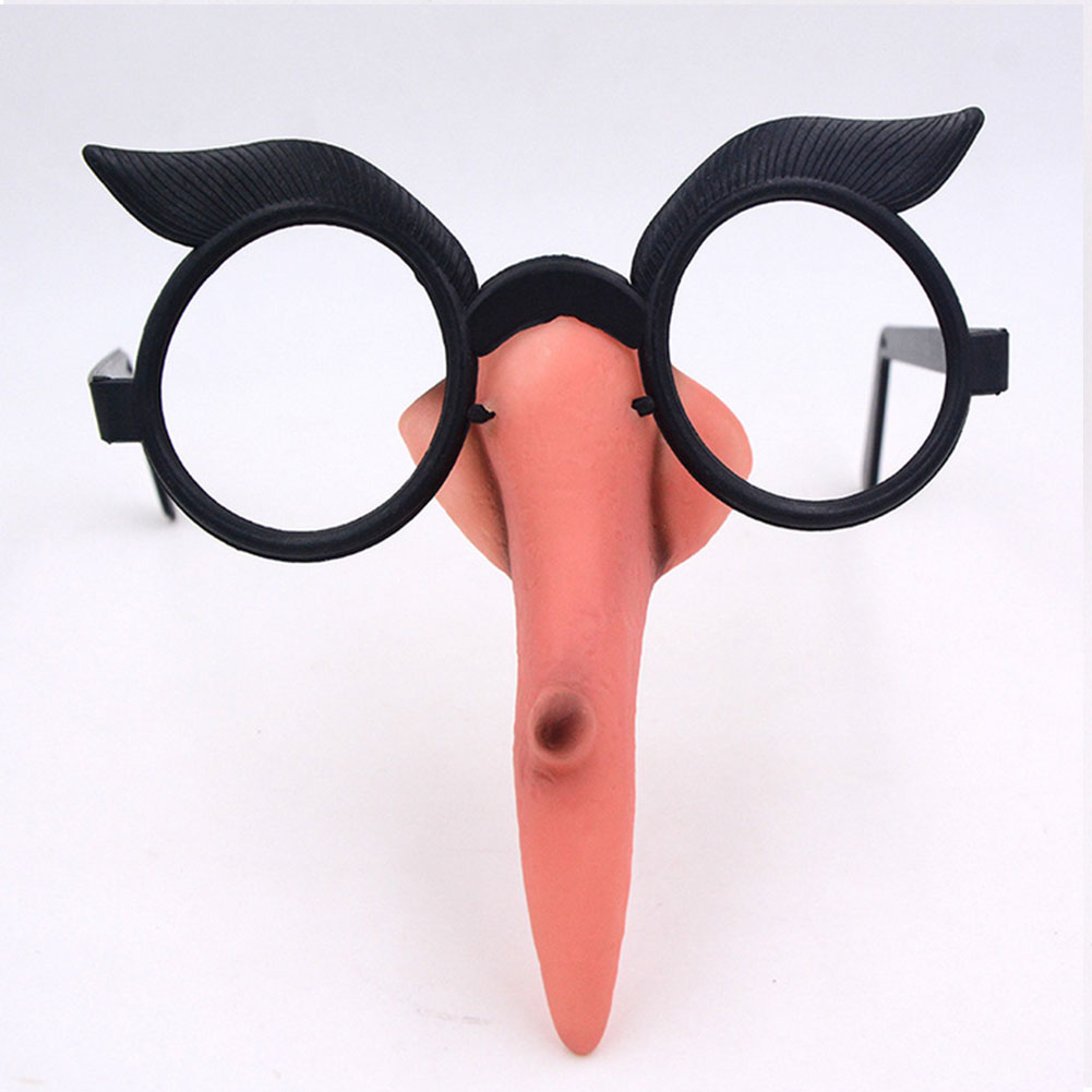 1Set Halloween Witch Glasses Nose Suit Glasses With Warty Witch Nose Witch Costume Props For Halloween Masquerade Cosplay