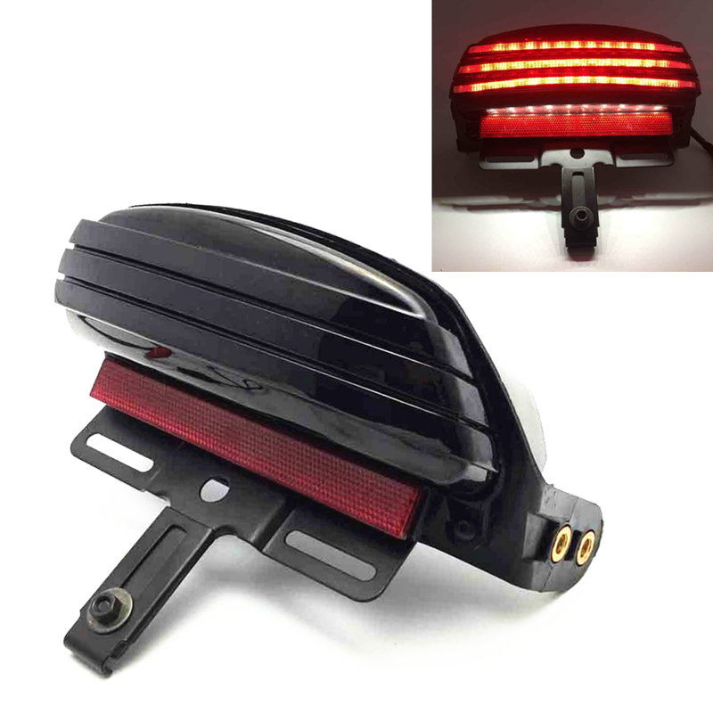 Motorcycle Tri-Bar Fender LED Tail Brake Light For Harley Dyna Fat Bob Softail FXST FXSTB FXSTC FXSTS FLSTSB 2006-later