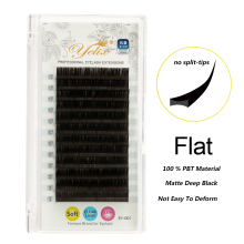 Yelix New flat ellipse eyelashes High grade Classic Flat lashes for Eyelash Extension Natural soft individual eyelashes