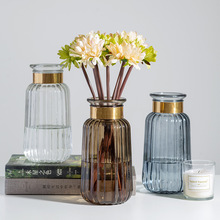 Nordic Light Luxury Glass Vase Decoration Living Room Home Decoration Dining Table Dried Flower Vase