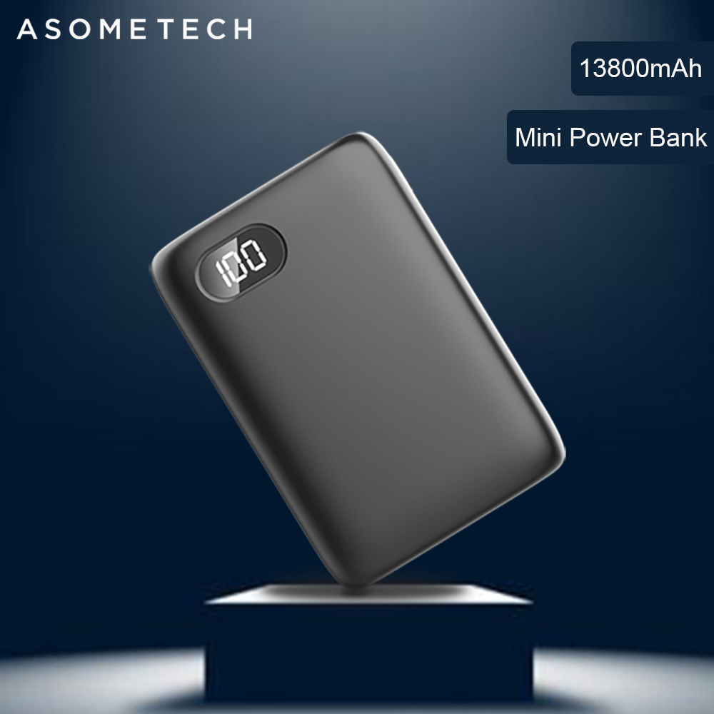 13800mAh Mini <font><b>Power</b></font> <font><b>Bank</b></font> Digital Display 2 USB External Battery Pover <font><b>Bank</b></font> Portable Charging Powerbank For Huawei Samsung <font><b>Xiaomi</b></font> image