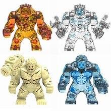 Legoing Marvel Movie Super Heroes ветер вода огонь земля элемент большие фигурки Супергерои строительные игрушки для детей