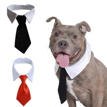 Pet Dog Cat Formal Necktie Tuxedo Bow Tie Black and Red Collar for Dog & Cat Pet Accessorie