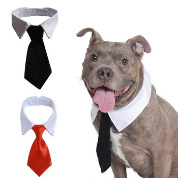 Pet Dog Cat Formal Necktie Tuxedo Bow Tie Black and Red Collar for Dog & Cat Pet Accessories for Wedding Holiday and Party Gift