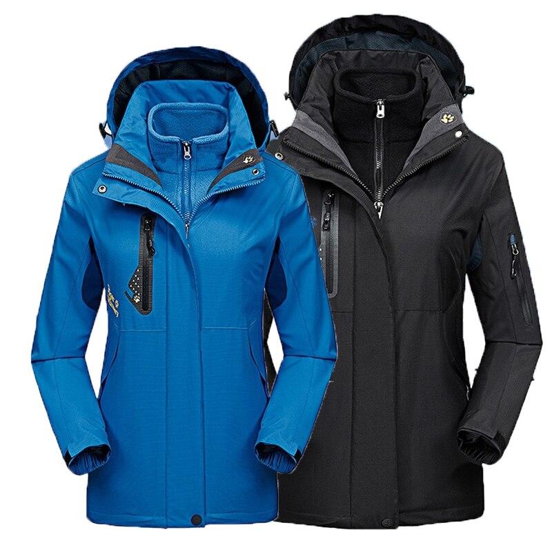 2019 hommes femme hiver automne nouveau 3 en 1 veste Ski Camp escalade Trek poissons randonnée Cycle imperméable extérieur manteau surdimensionné mâle femelle