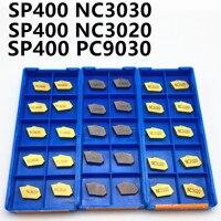 Sp200 sp300 sp400 pc9030 nc3020 nc3030 entalhado carboneto inserir torno ferramenta ferramenta de torneamento e entalho