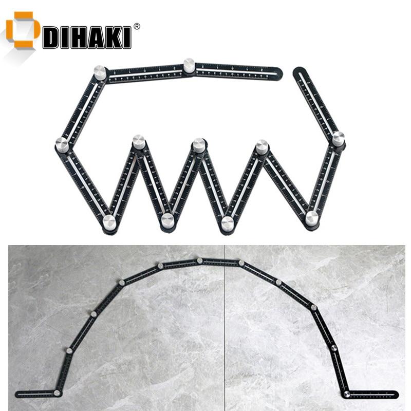 multi-angle-measuring-ruler-12-side-alloy-angle-finder-template-tool-12-folding-ruler-brick-tile-wood-corner-positioning-tools
