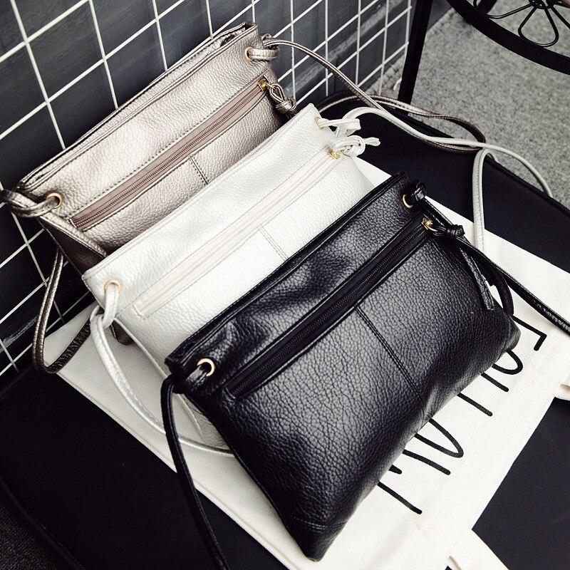 Fashion Women Clutch Messenger Bags Design Girls' Shoulder Bags PU Leather Lady Handbags Vintage Small Messenger Bag Phone Purse
