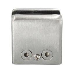 4 sztuk ze stali nierdzewnej stali nierdzewnej kwadratowe uchwyt zaciskowy uchwyt klip dla półka szklana poręcze srebrny w Zaciski do szkła od Majsterkowanie na