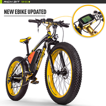 Snow-Bicycle Electric-Bike Fat-Tire Powerful Beach-Cruiser Richbit 21-Speed 48V 17AH