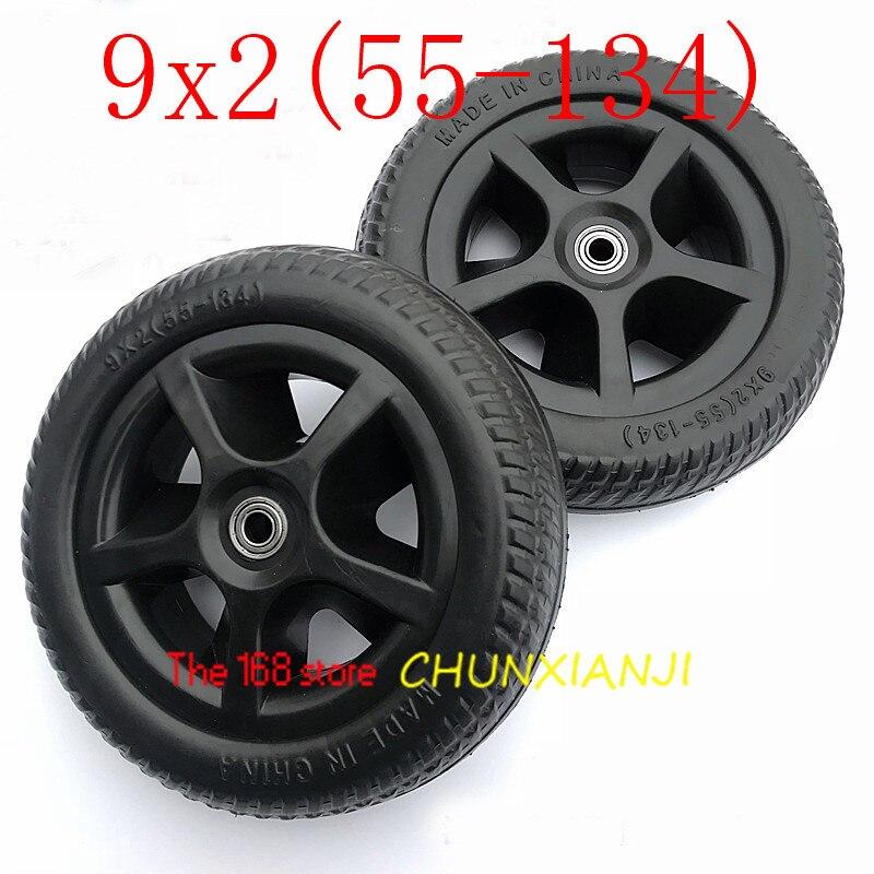 Rodamientos de 8 mm Par de 8x 2 Ruedas s/ólidas de ricino Silla de ruedas Neum/áticos 200x50
