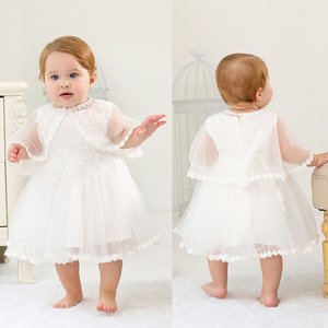 Image 2 - IYEAL Baby Christening Gowns Infant Baby Girl Dress Baptism for Little Girl Clothes Summer Dresses for Baby Girl Wedding 3PCS