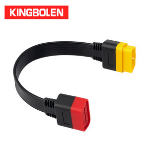 Image 1 - OBDII Extension cable 16 Pin Male To Female OBD2 Connector 16Pin diagnostic tool ELM327 OBD2 extended adapter 0.36m