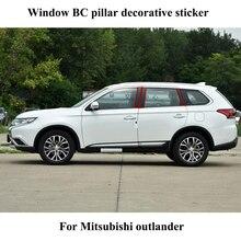Для Mitsubishi Outlander 6 шт./компл. Автомобильная оконная колонна декоративная наклейка B C столб крышка молдинги Tirm автомобильные аксессуары