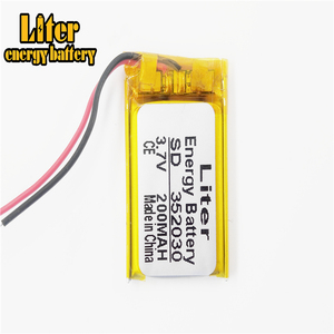 Image 4 - BH 111 BH 214 Bluetooth headset battery 3.7v 352030 200MAH lithium battery MP4 MP3 small toys