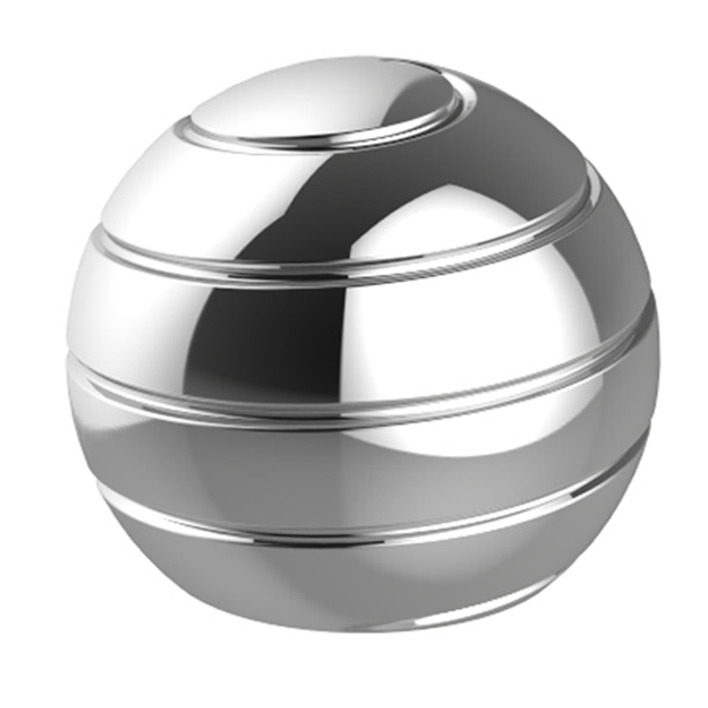 Optical Kinetic Spinning Tops Spherical Rotating Gyro Metal Kids Desk Ball Finger Gyroscope Decompression Toy Illusion Flowing