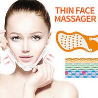 EMS máquina de elevación Facial estimulador de músculo Facial V cara adelgazante ejercitador EMS masajeador para cara con almohadillas de Gel elevador de piel herramientas