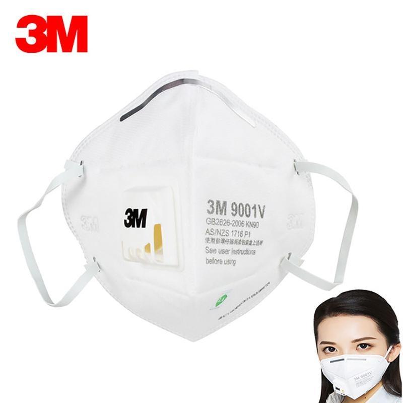 Ship Now 3M KN95 N95 Mask FFP2 Mask 9051 9542 9542V 9001V Dust Masks With Valve Anti Dust Protective Dustproof PM2.5 Mask