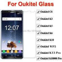 цены 2PCS Glass For Oukitel K3 K5 K6 K10 K13 K10000 Pro Screen Protector Phone Film On Oukitel WP6 K3 K5 K6 K10 WP5 Tempered Glass