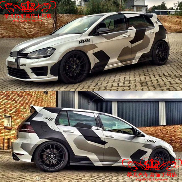 FOR Volkswagen Golf 7 GTI body exterior decoration personalized custom modified racing stickers POLO full car decals 1