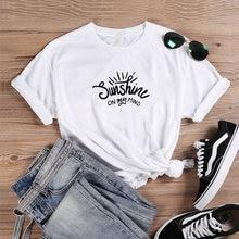 Sunshine on My Mind Shirt Funny T Shirt Women 2020 Cotton O-neck Tee Shirt Femme Casual Tshirt Women Tops Loose Camiseta Mujer