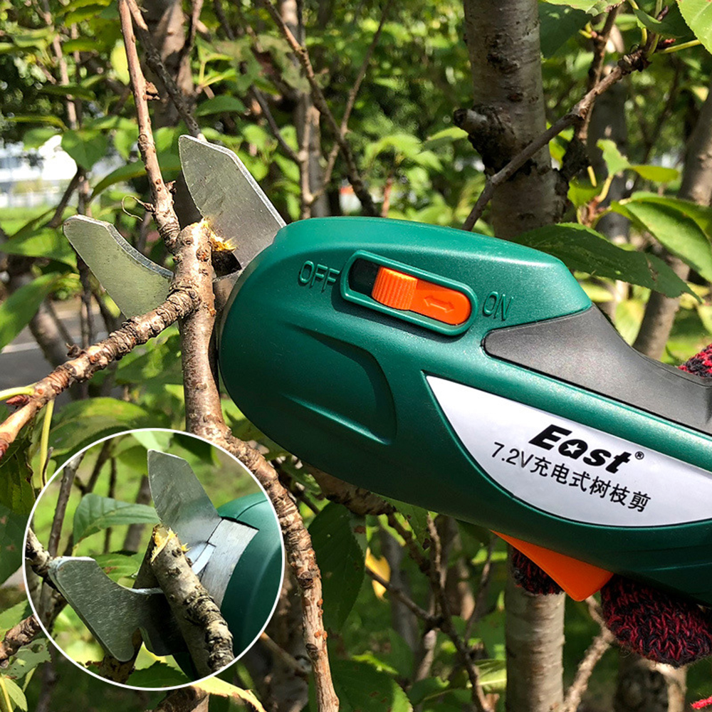 Tools : Electric Pruning Shears Rechargeable Gardening Secateurs  Lithium-ion  Pruning Scissors Branch Pruner Trimmer Tools