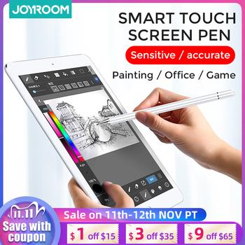 Joyroom Touch Pen do Apple Pencil Pro 11 12 9 9 7 2018 Air 3 10 2 2019 Min inteligentny ołówek pojemnościowy do Apple Pencil długopis Stylus tanie i dobre opinie CN (pochodzenie) Pojemnościowy ekran Dla apple Tabletki 16 5inch JR-BP560 Krzemu Soft fiber tip Anti-Mistakenly touch pencil