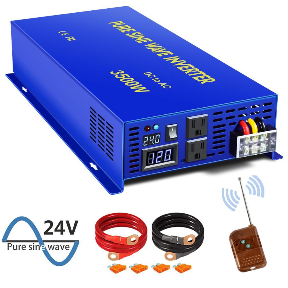 XYZ INVT 3500 watt Power Converter Pure Sine Wave Inverter 12v 24v 36v 48v dc to ac 120v 240V with Wireless Remote Switch