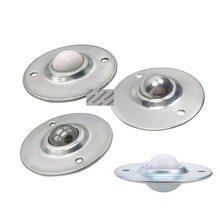 4 pces 304 de aço inoxidável de transferência de bola de náilon rodízio roda rolamento de esferas transportadora rolo castor ufo disco voador montado