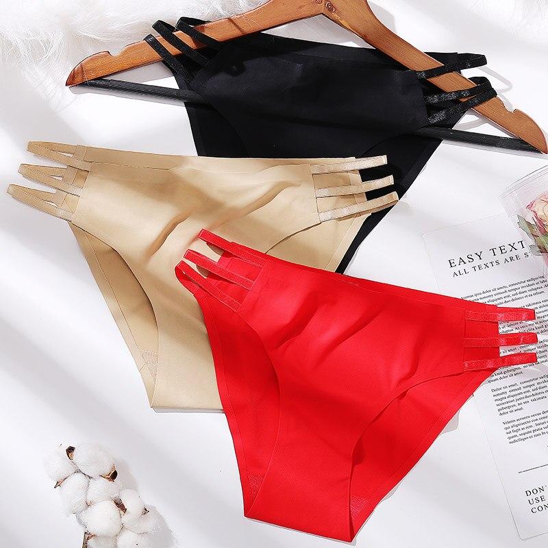 M-XL Women Panties Solid Color Sexy Lingerie Female Underpants Seamless Panties Briefs Women's Underwear Hot Side Strap Design