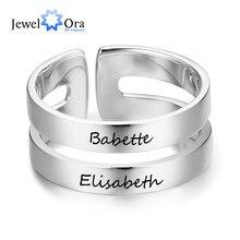 Nome Gravado Promise Anéis para Mulheres Presente personalizado Personalizado BFF dos Melhores Amigos Anel de Aço Inoxidável Jóias (JewelOra RI103289)