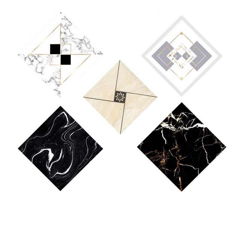10 قطعة للماء 3D قطري بلاط ملصق pvc القابل للإزالة خلفيات الزخرفية ملصقات أرضية جدار ملصق الفن صائق ديكور المنزل