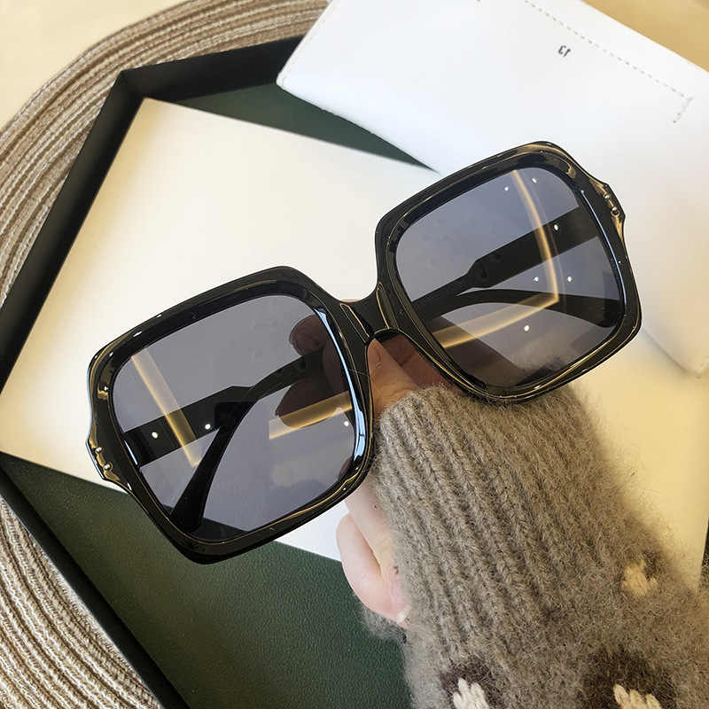 Männer Frauen Sonnenbrille retro Vintage Sonnenbrille große Rahmen Mode